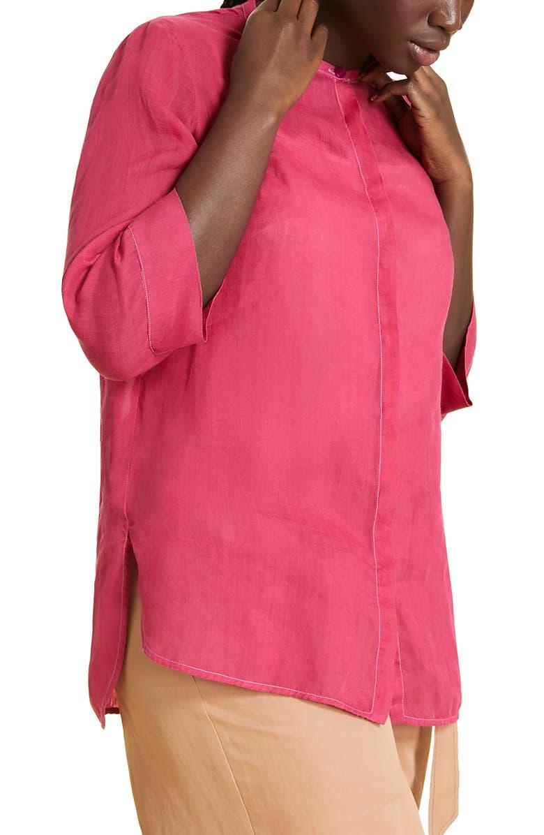 MARINA RINALDI Fiume Shirt, Main, color, FUCHSIA
