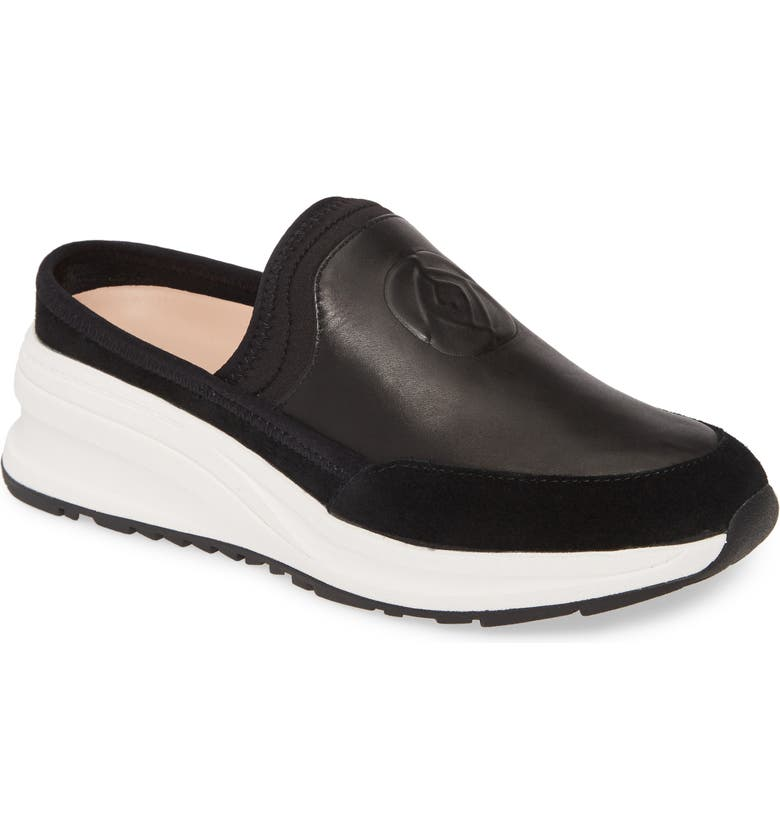 TARYN ROSE Zurie Slip-On Sneaker, Main, color, BLACK LEATHER