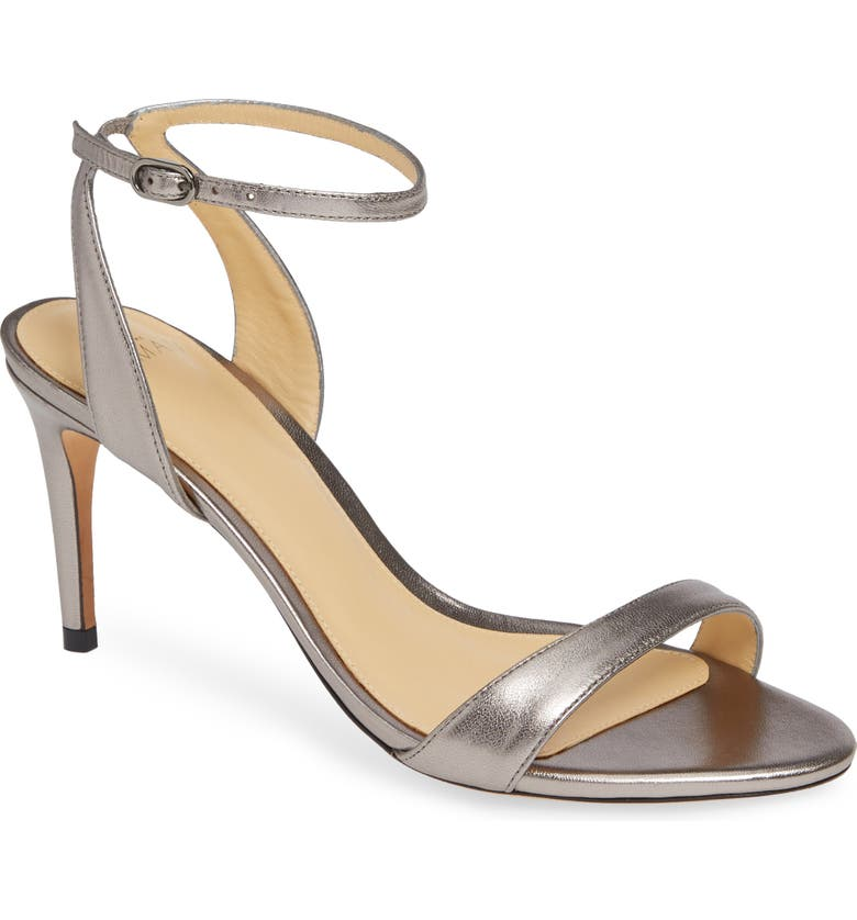 ALEXANDRE BIRMAN Willow Ankle Strap Sandal, Main, color, GRAFITE LEATHER