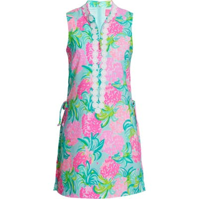 Lilly Pulitzer Jonna Pineapple Shake Skort Romper, Blue/green