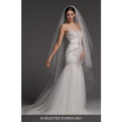 Watters Monaco Lace Mermaid Gown, Size IN STORE ONLY - Ivory