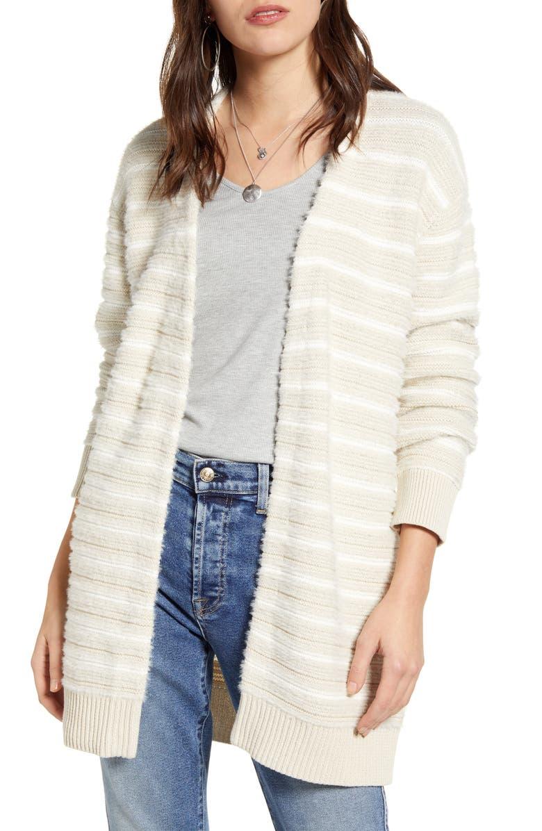 TREASURE & BOND Stripe Open Front Cardigan, Main, color, 270