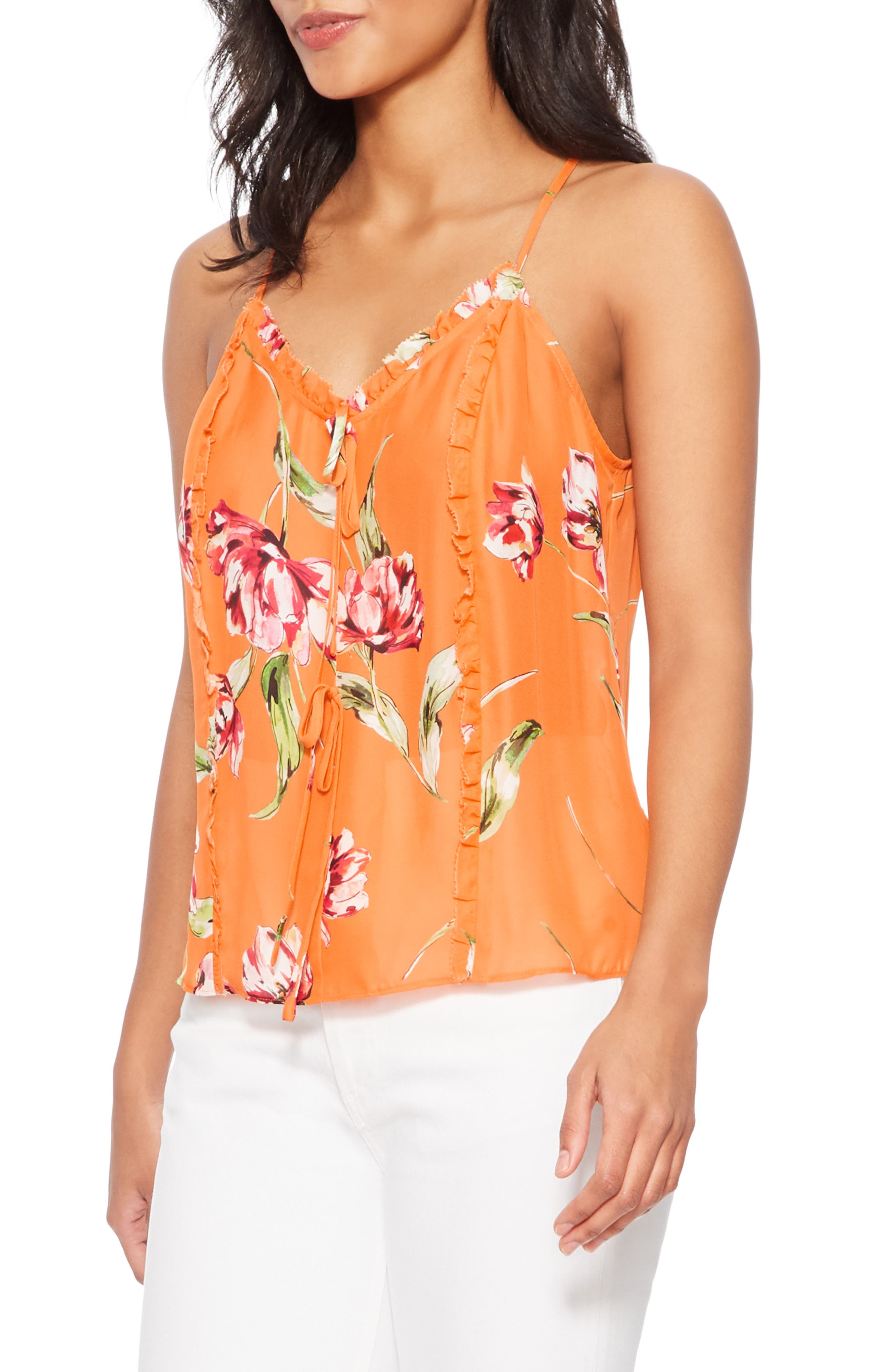 ,                             Rubina Tank,                             Alternate thumbnail 3, color,                             ORANGE MAGNOLIA