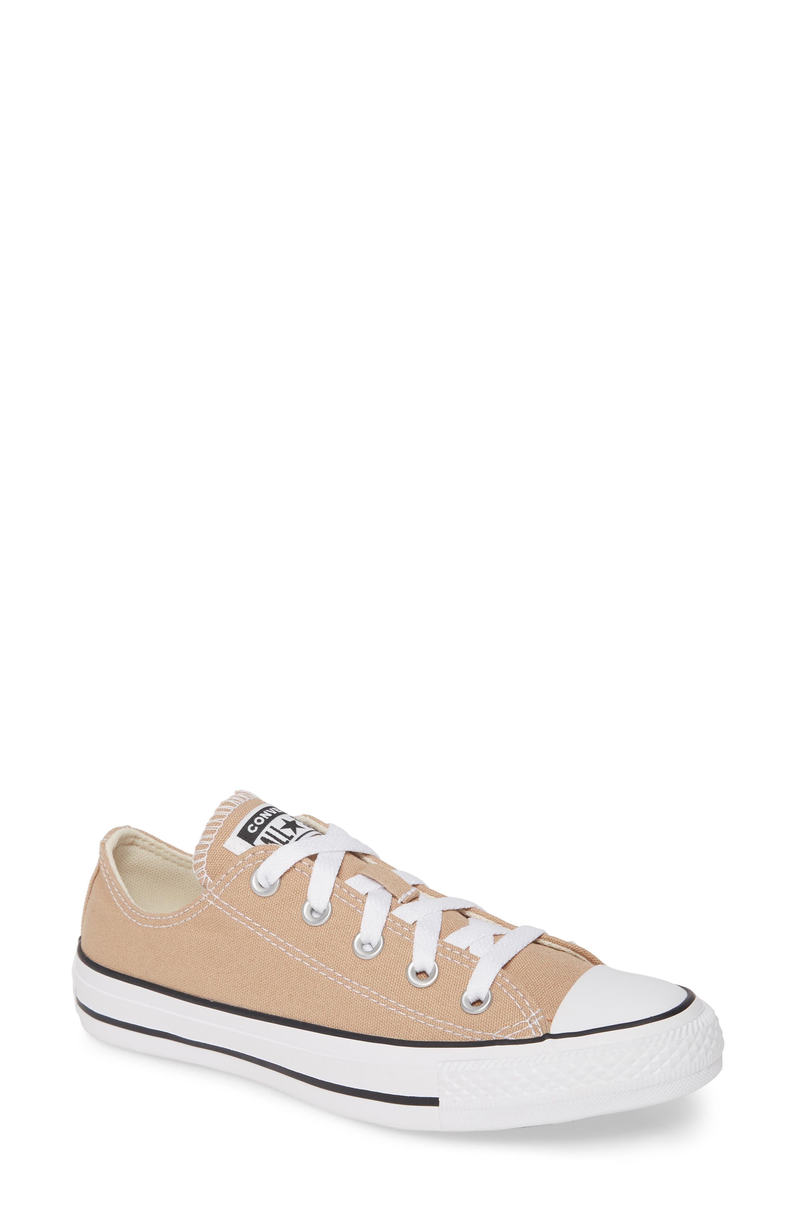 Converse Chuck Taylor All Star Seasonal Ox Low Top Sneaker, Beige