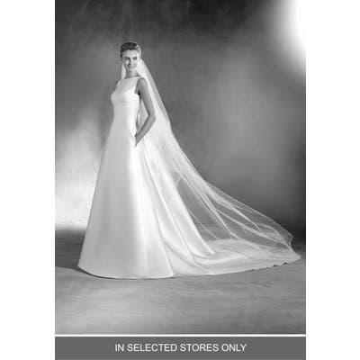 Atelier Pronovias Elma Kelly Mikado A-Line Gown