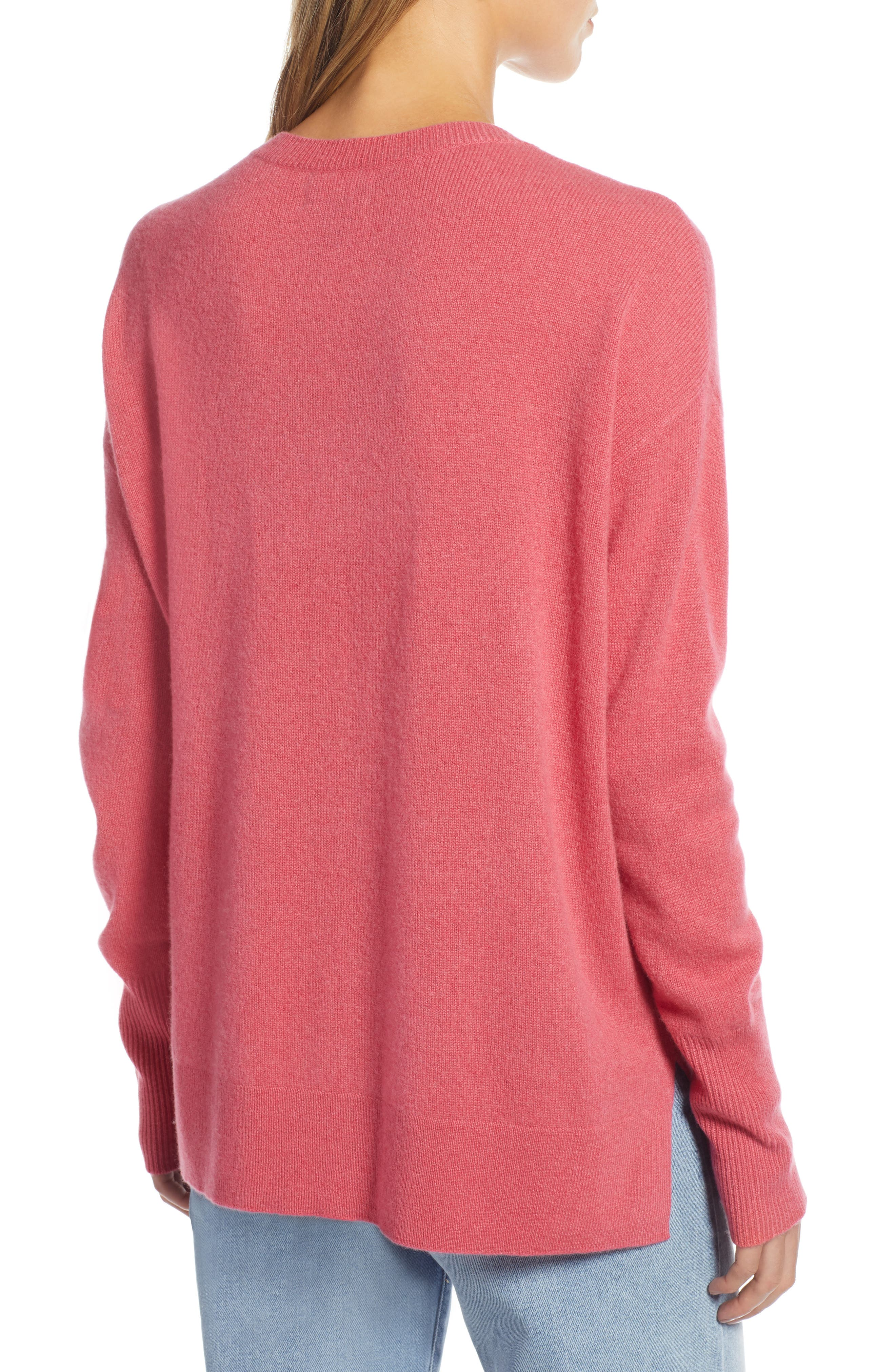 ,                             Relaxed V-Neck Cashmere Sweater,                             Alternate thumbnail 65, color,                             650