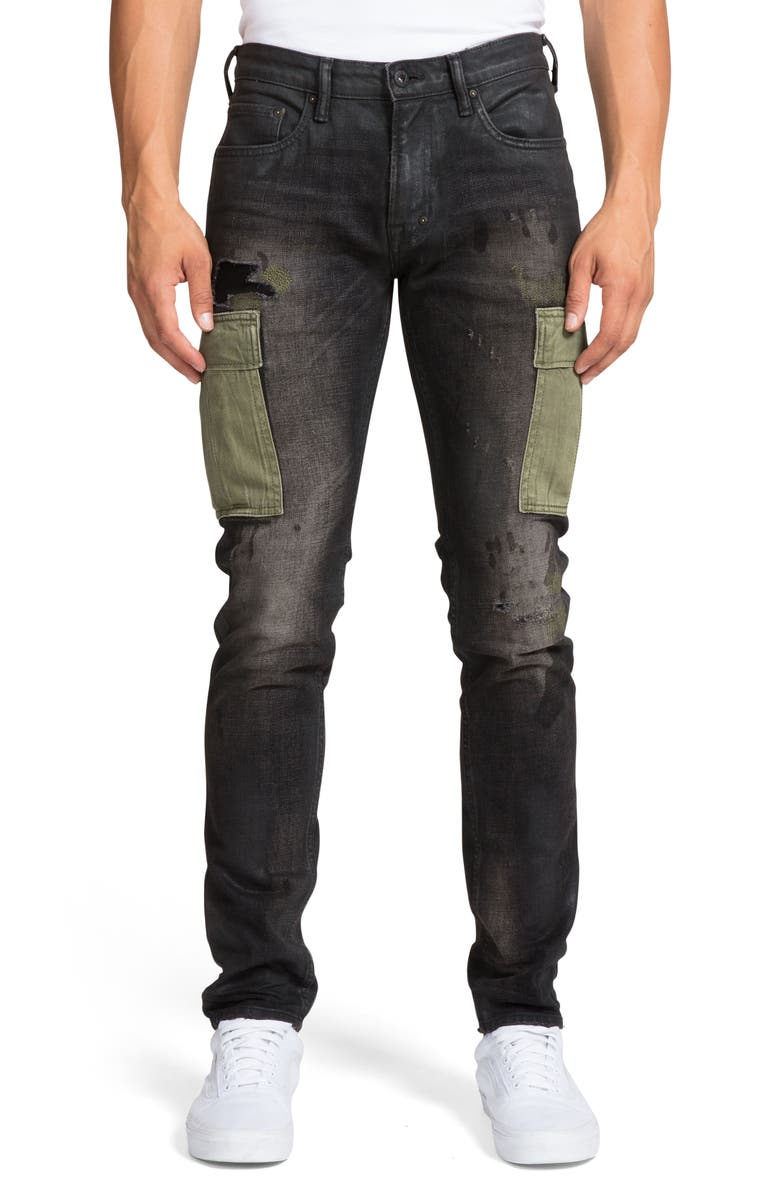 PRPS Windsor Extra Slim Fit Cargo Jeans, Main, color, KINGSBURG