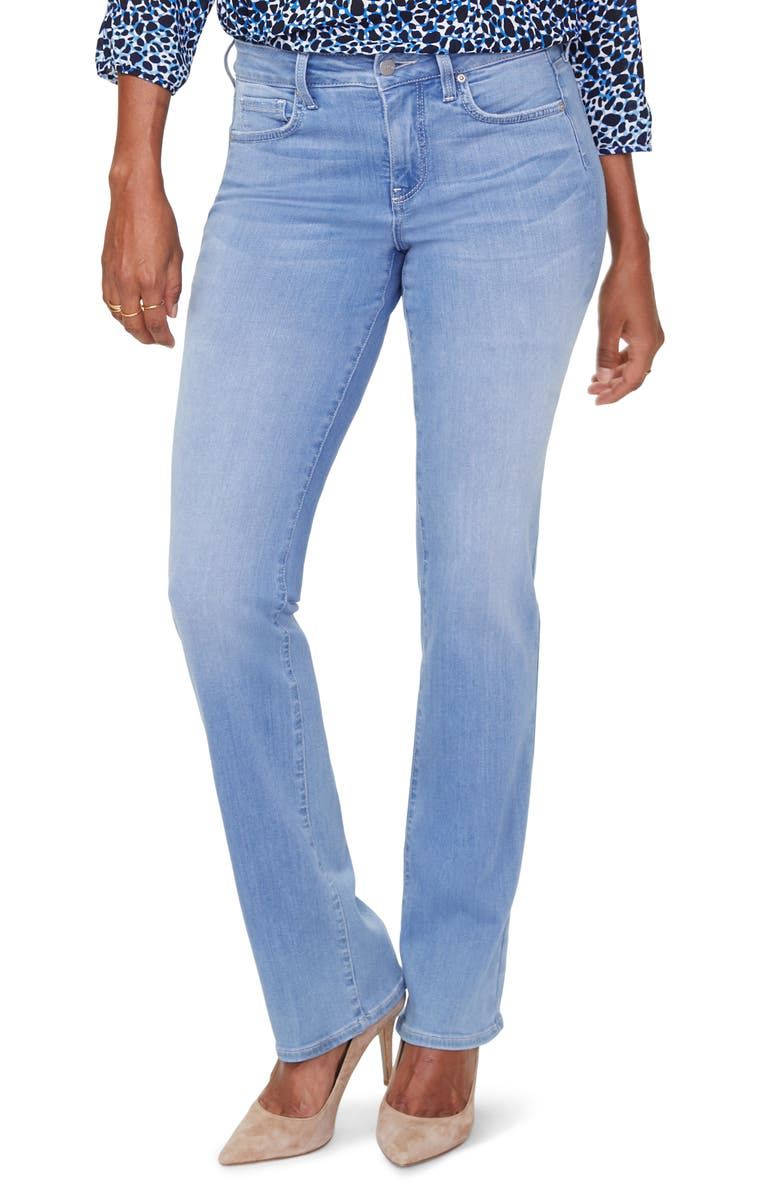 NYDJ Marilyn Stretch Straight Leg Jeans, Main, color, TROPICALE