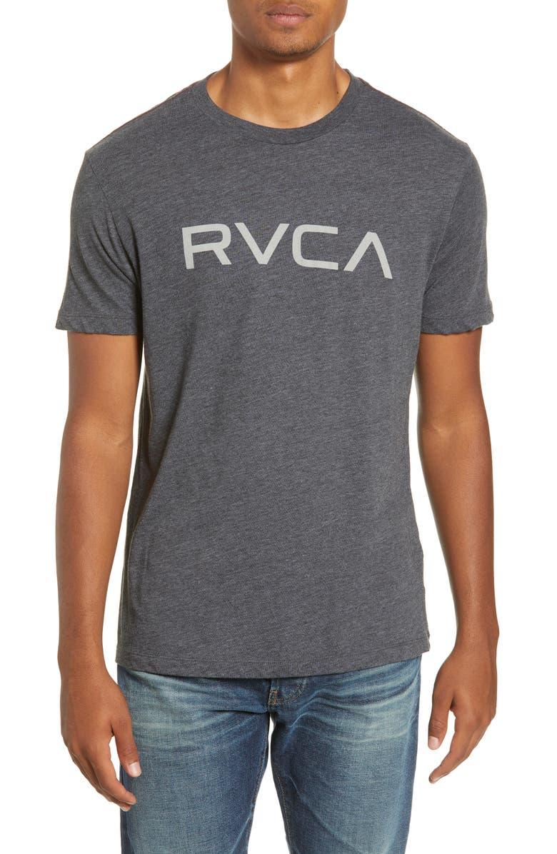 RVCA Big RVCA Logo T-Shirt, Main, color, BLACK