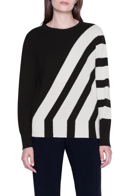Akris Sweaters INTARSIA STRIPE CASHMERE SWEATER