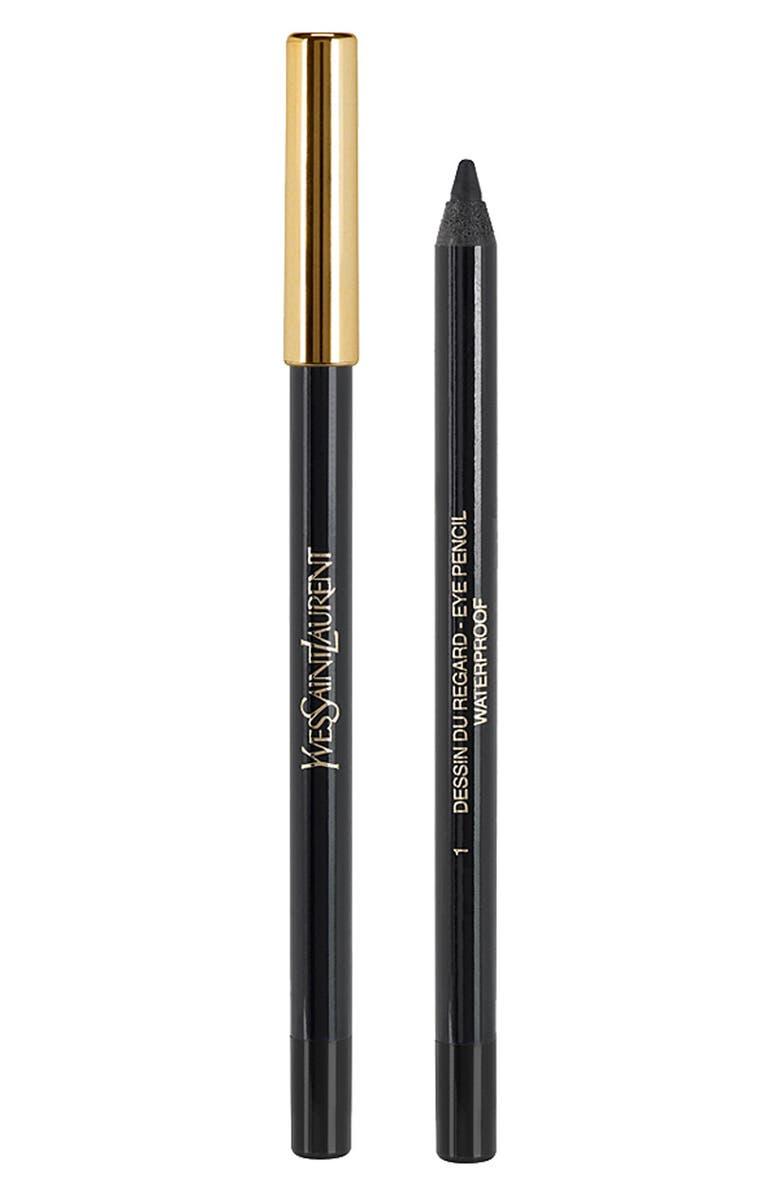YVES SAINT LAURENT 'Dessin du Regard Waterproof' Eye Pencil, Main, color, 001
