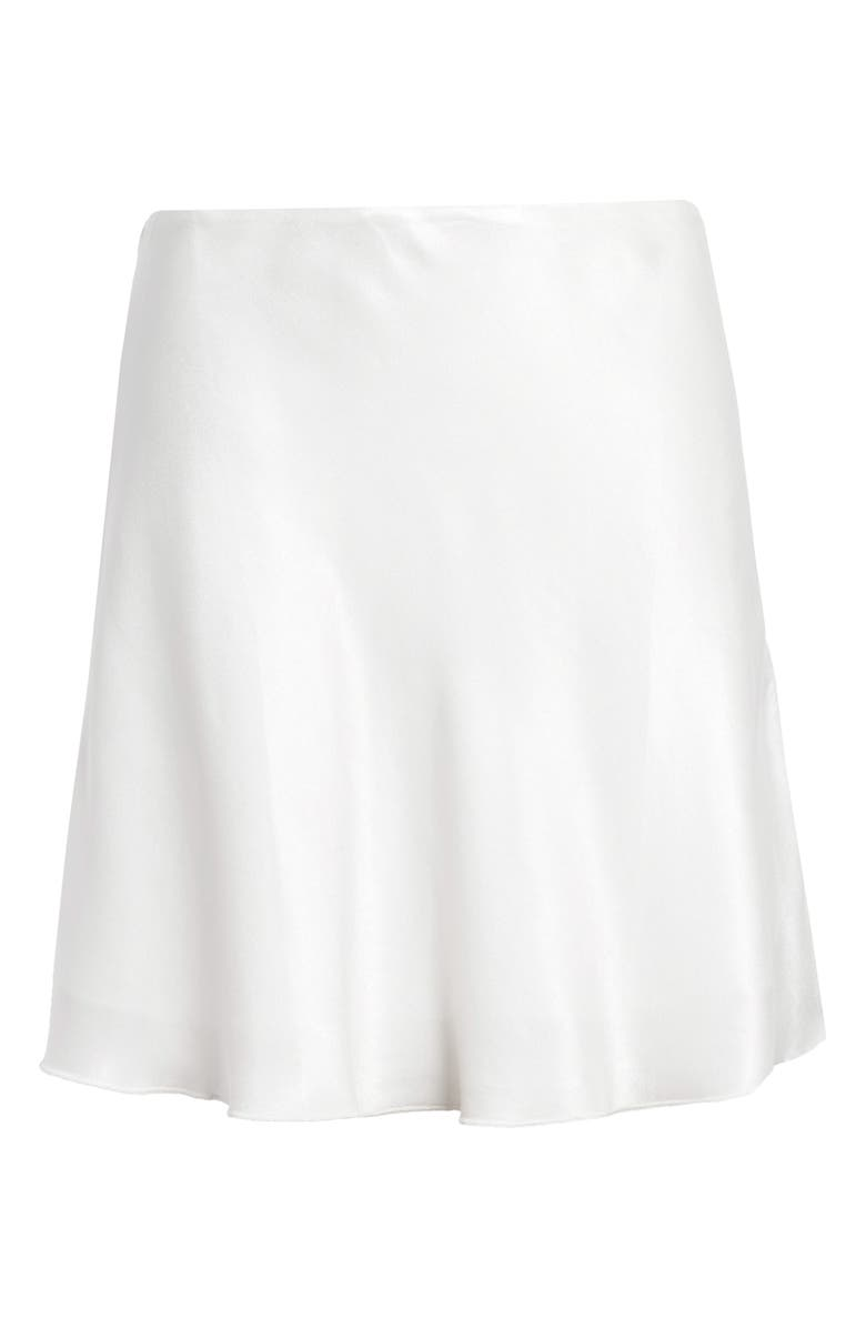 SOCIALITE Bias Cut Satin Miniskirt, Main, color, IVORY