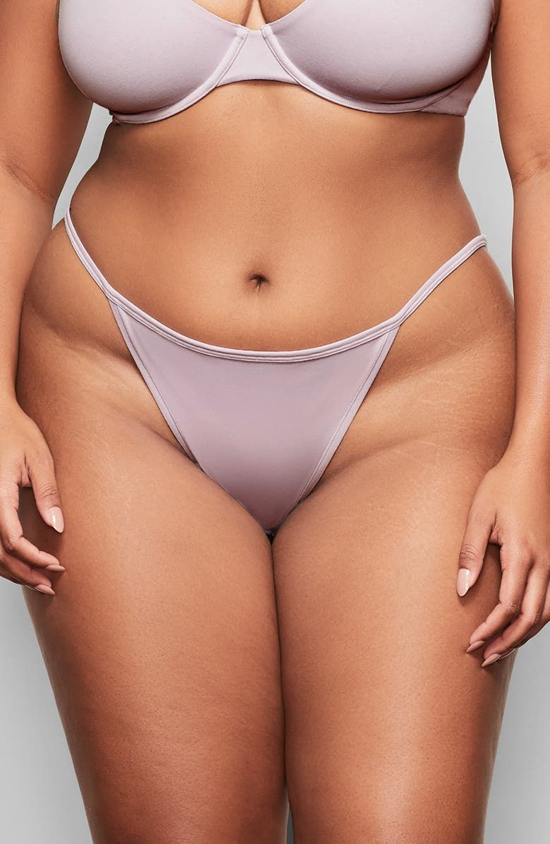 SKIMS Cotton String Bikini, Main, color, IRIS MICA