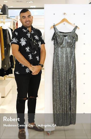 Cold Shoulder Shimmer Gown, sales video thumbnail