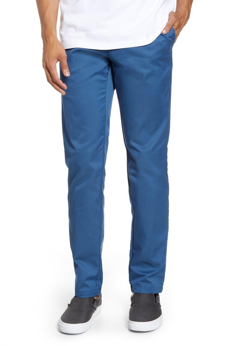 CARHARTT WORK IN PROGRESS Sid Chino Pants, Main, color, PRUSSIAN BLUE