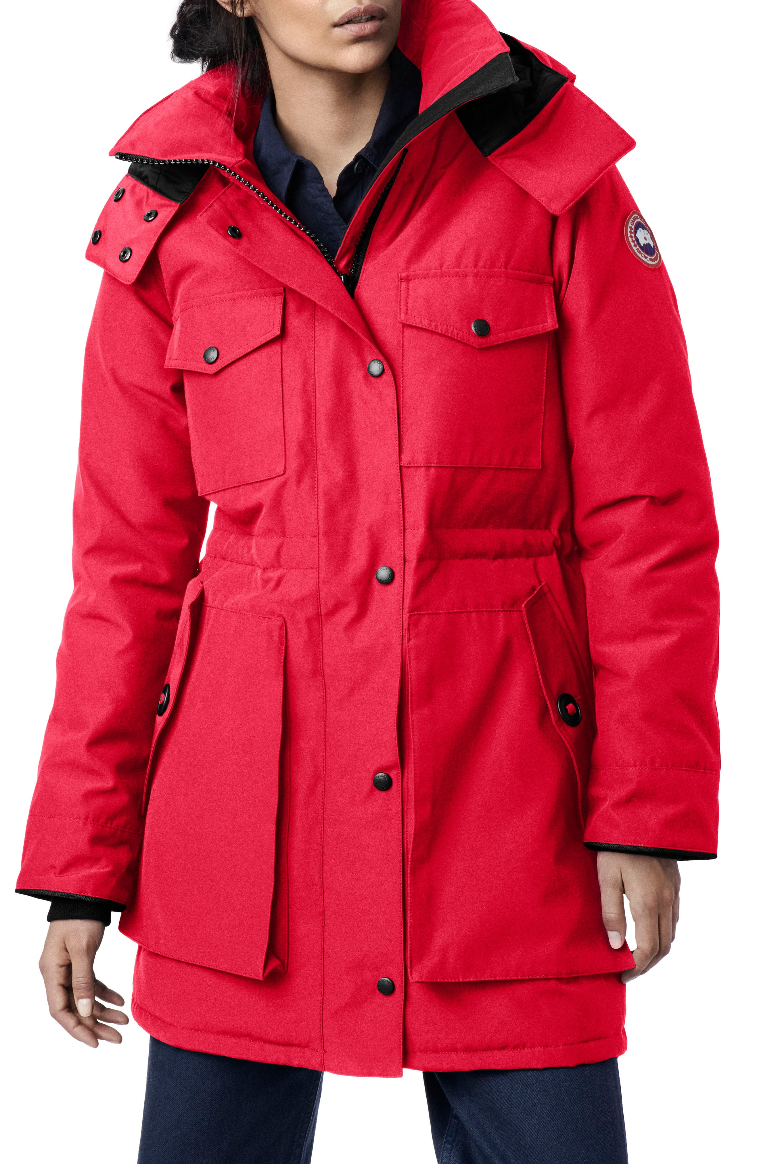 Canada Goose Gabriola Water Resistant Arctic Tech 625 Fill Power Down Parka, (6-8) - Red