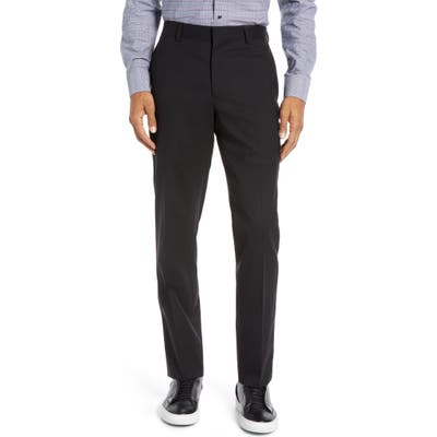Nordstrom Shop Tech-Smart Slim Fit Stretch Wool Dress Pants, Black
