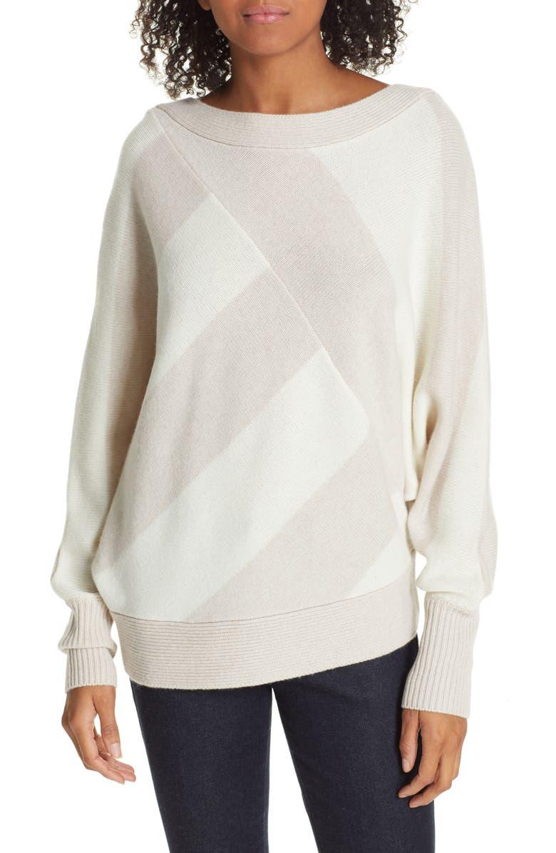 BROCHU WALKER Bixby Bold Stripe Wool & Cashmere Sweater, Main, color, PERLE COMBO