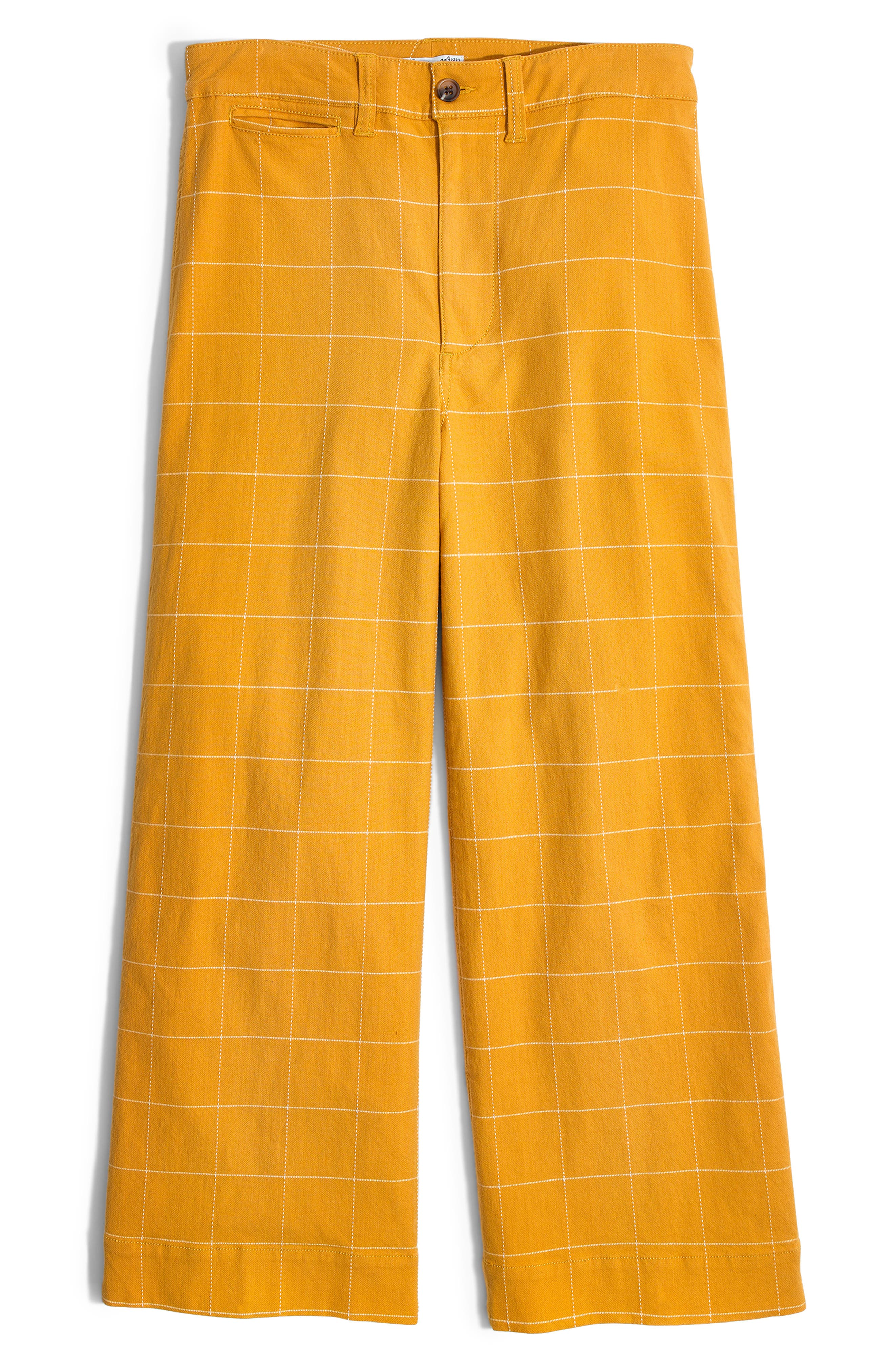 ,                             Emmett Windowpane Crop Wide Leg Pants,                             Alternate thumbnail 6, color,                             WINDOWPANE TUNGSTEN GLOW