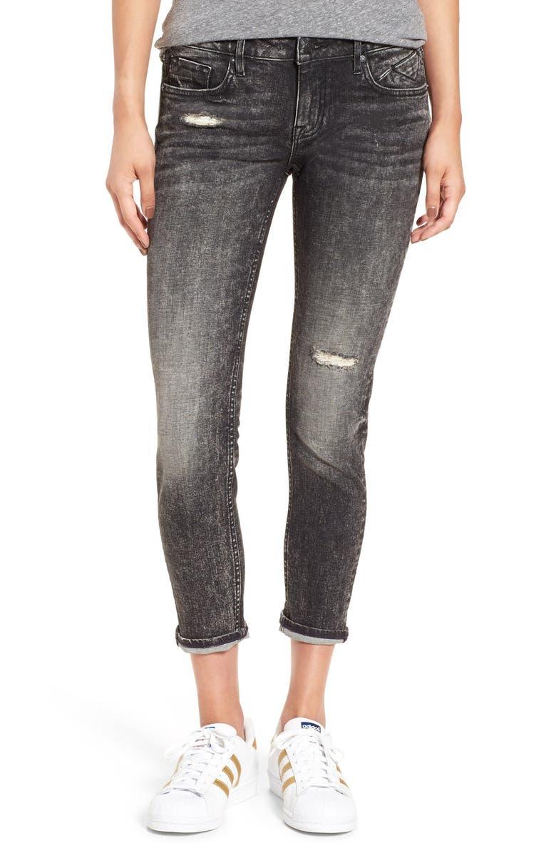 VIGOSS 'Tomboy Thompson' Distressed Crop Boyfriend Jeans, Main, color, 001