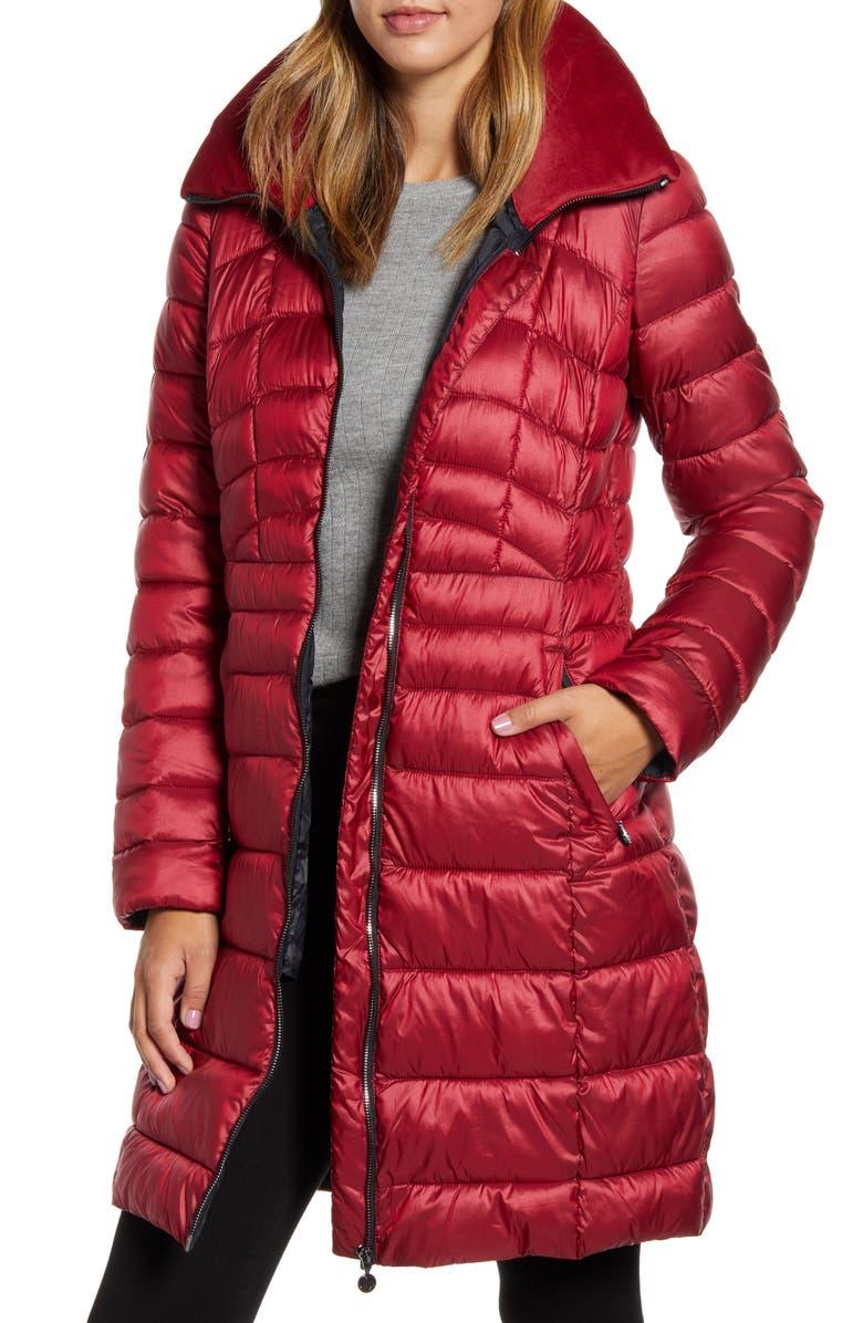 BERNARDO Water Resistant Packable Puffer Coat, Main, color, MACHINTOSH