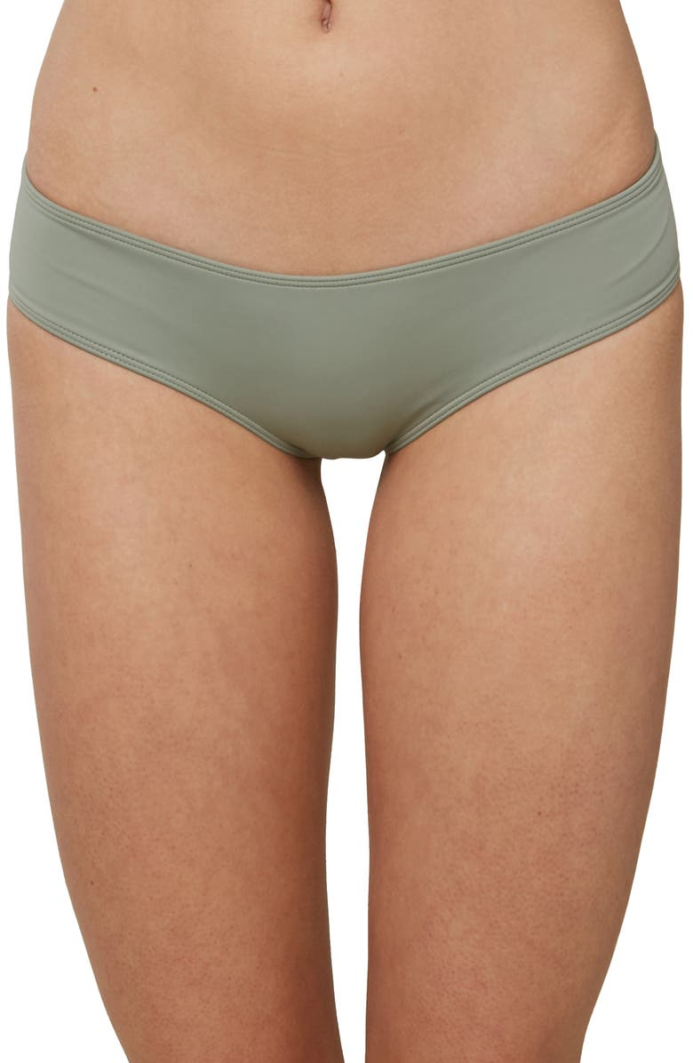 O'NEILL Salt Water Solids Hipster Bikini Bottoms, Main, color, FOG