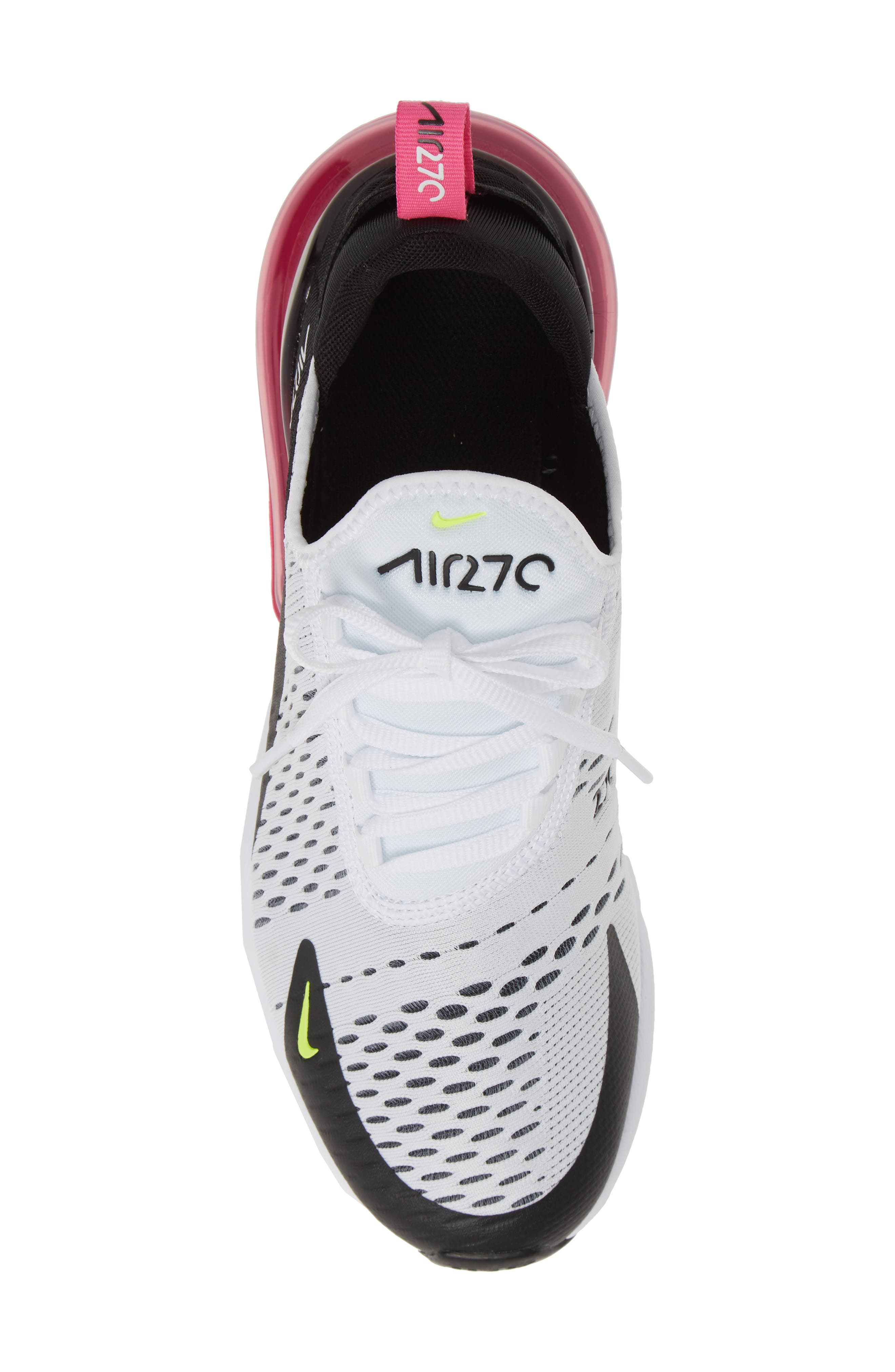,                             Air Max 270 Sneaker,                             Alternate thumbnail 5, color,                             WHITE/ VOLT-BLACK-FUCHSIA