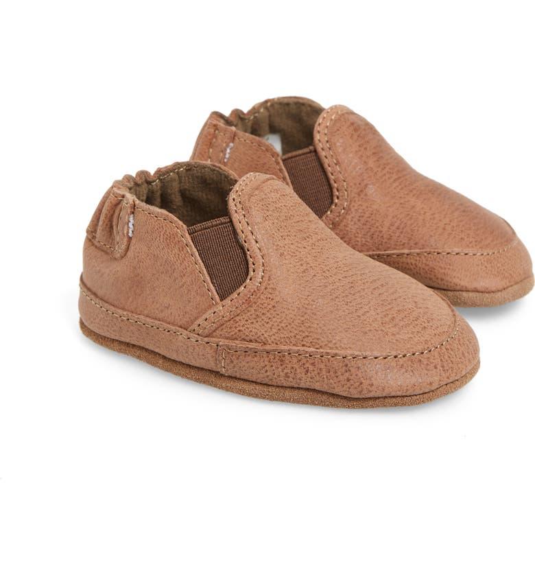 ROBEEZ<SUP>®</SUP> Liam Crib Shoe, Main, color, CAMEL