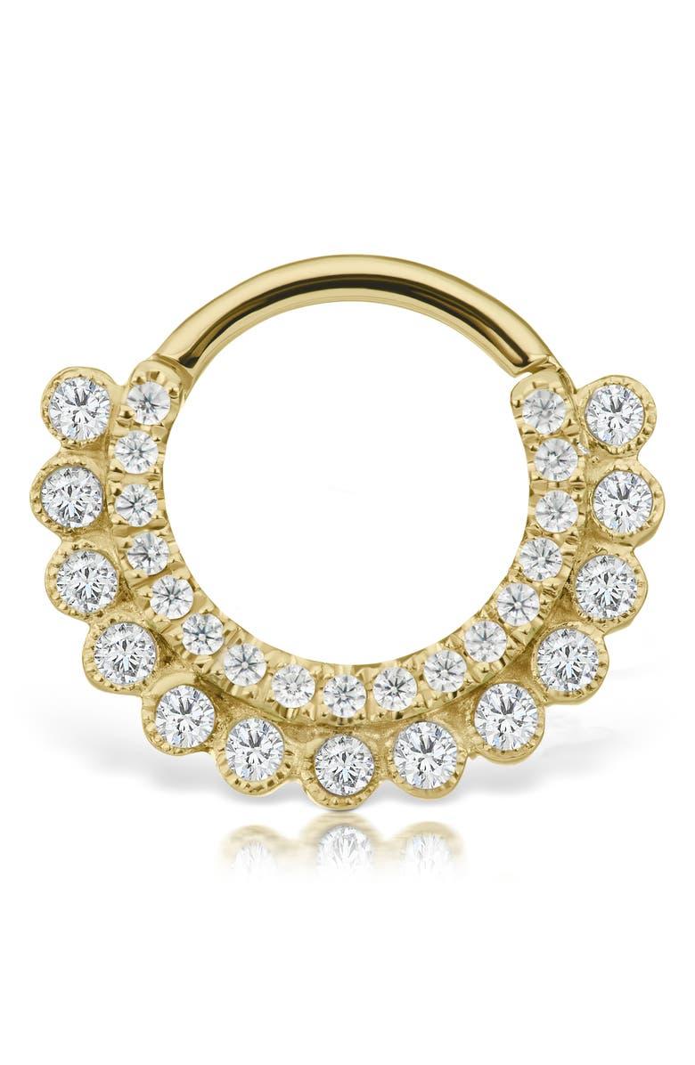 MARIA TASH Diamond Apsara Clicker Earring, Main, color, YELLOW GOLD/ DIAMOND