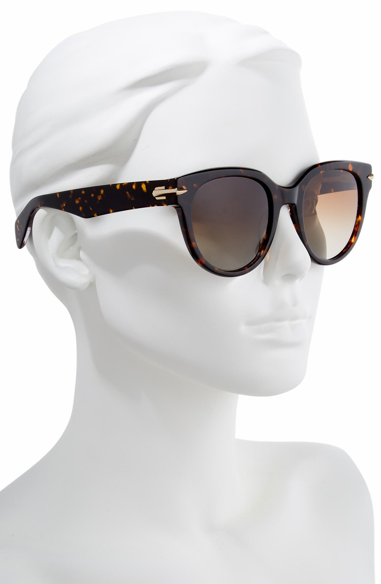 ,                             54mm Cat Eye Sunglasses,                             Alternate thumbnail 2, color,                             HAVANA/ CRYSTAL
