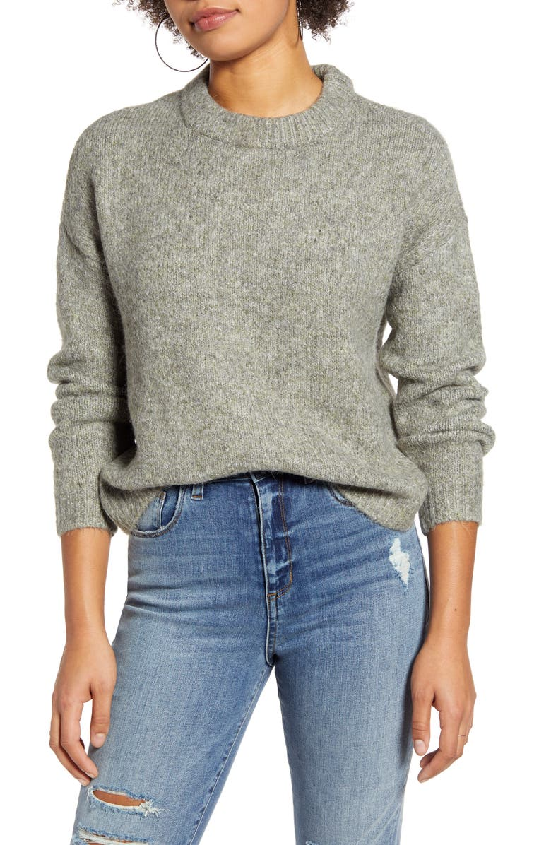 ONLY Zoey Crewneck Sweater, Main, color, 300