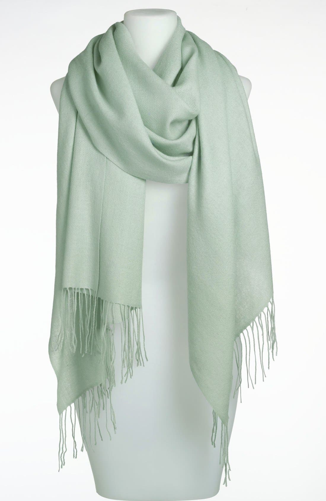 ,                             Tissue Weight Wool & Cashmere Wrap,                             Main thumbnail 64, color,                             353