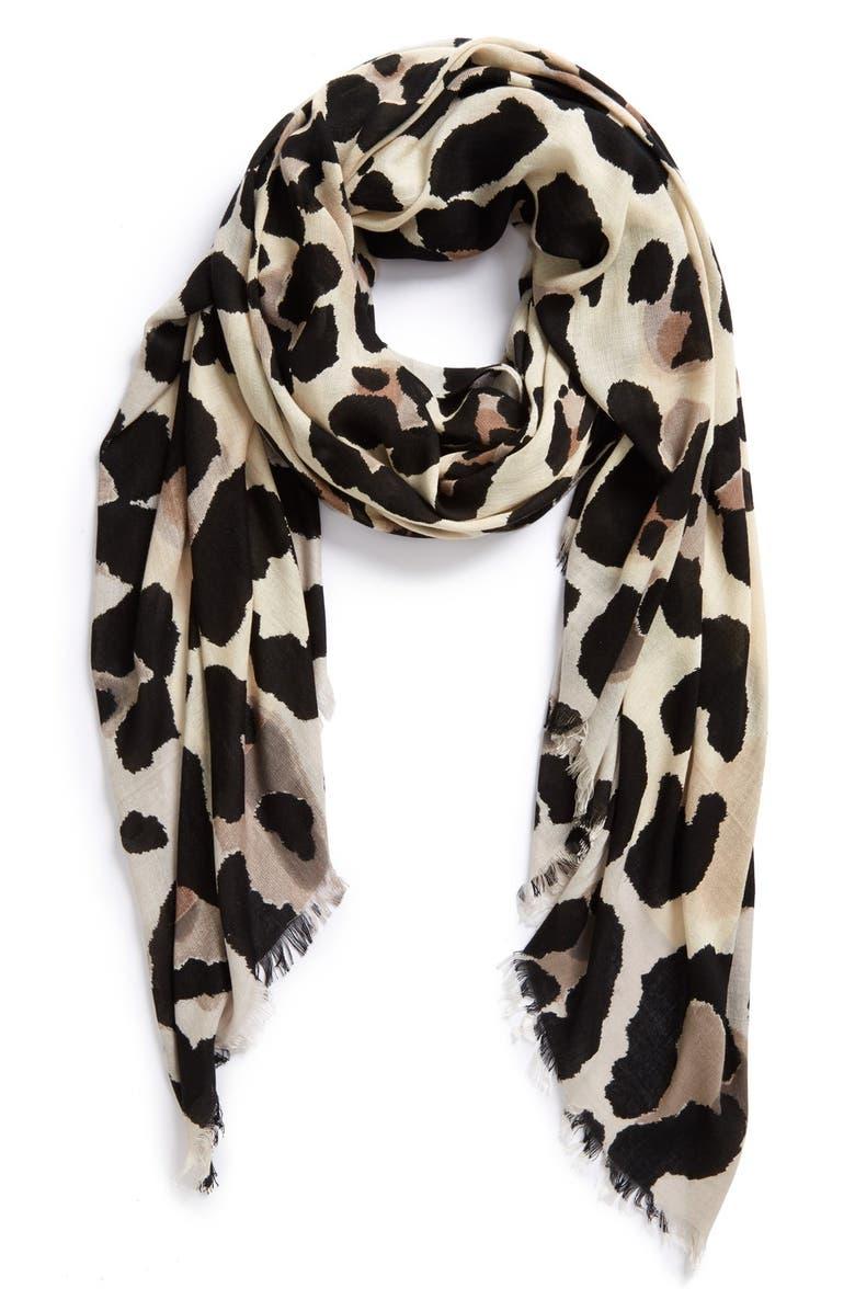 VINCE CAMUTO 'Cheetah Calling' Wrap, Main, color, 001