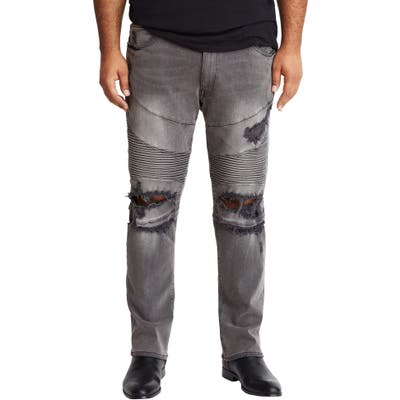 Mvp Collections Straight Leg Destroyed Biker Jeans