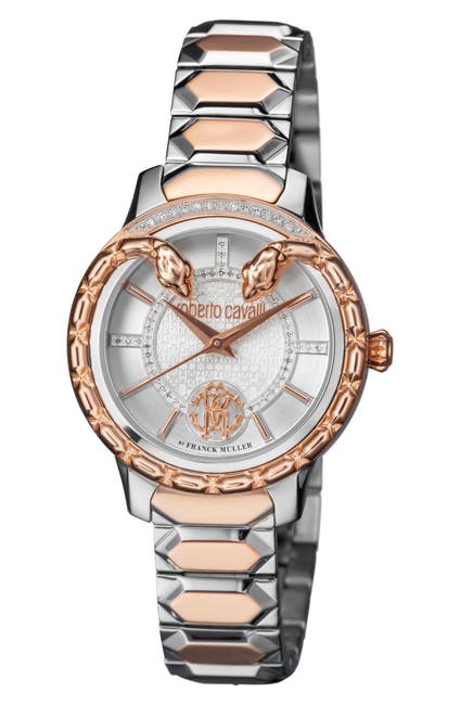 Image of ROBERTO CAVALLI BY FRANCK MULLER Women's Serpente Diamond Bracelet Watch, 34mm