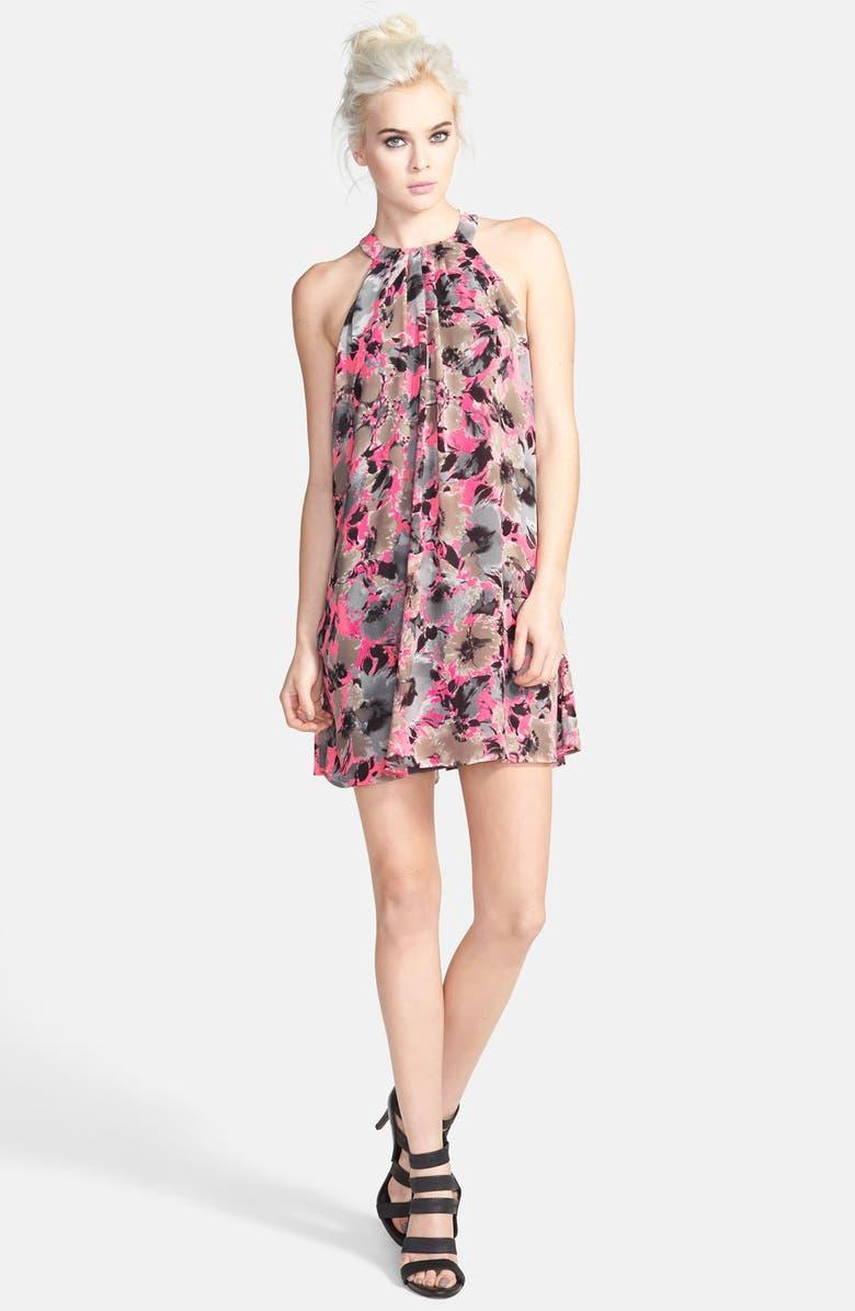 ASTR THE LABEL ASTR High Neck Trapeze Dress, Main, color, 963
