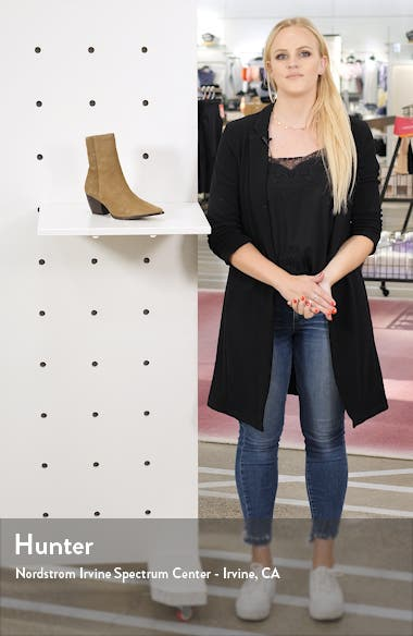 Caty Western Pointy Toe Bootie, sales video thumbnail