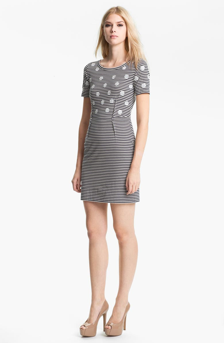 MARC BY MARC JACOBS 'Willa' Sequin Dot Stripe Dress, Main, color, 400