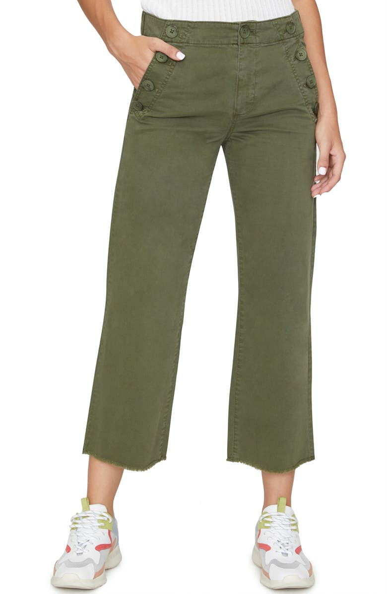SANCTUARY Skipper Crop Chino Pants, Main, color, LIGHT AGED GREEN