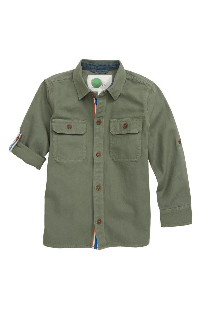 MINI BODEN Utility Button-Up Shirt, Main, color, 300