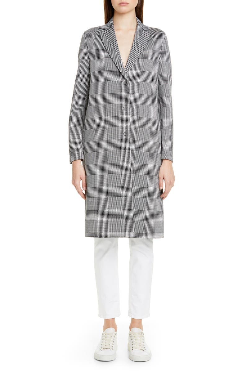 HARRIS WHARF LONDON Prince of Wales Cotton Blend Coat, Main, color, 020
