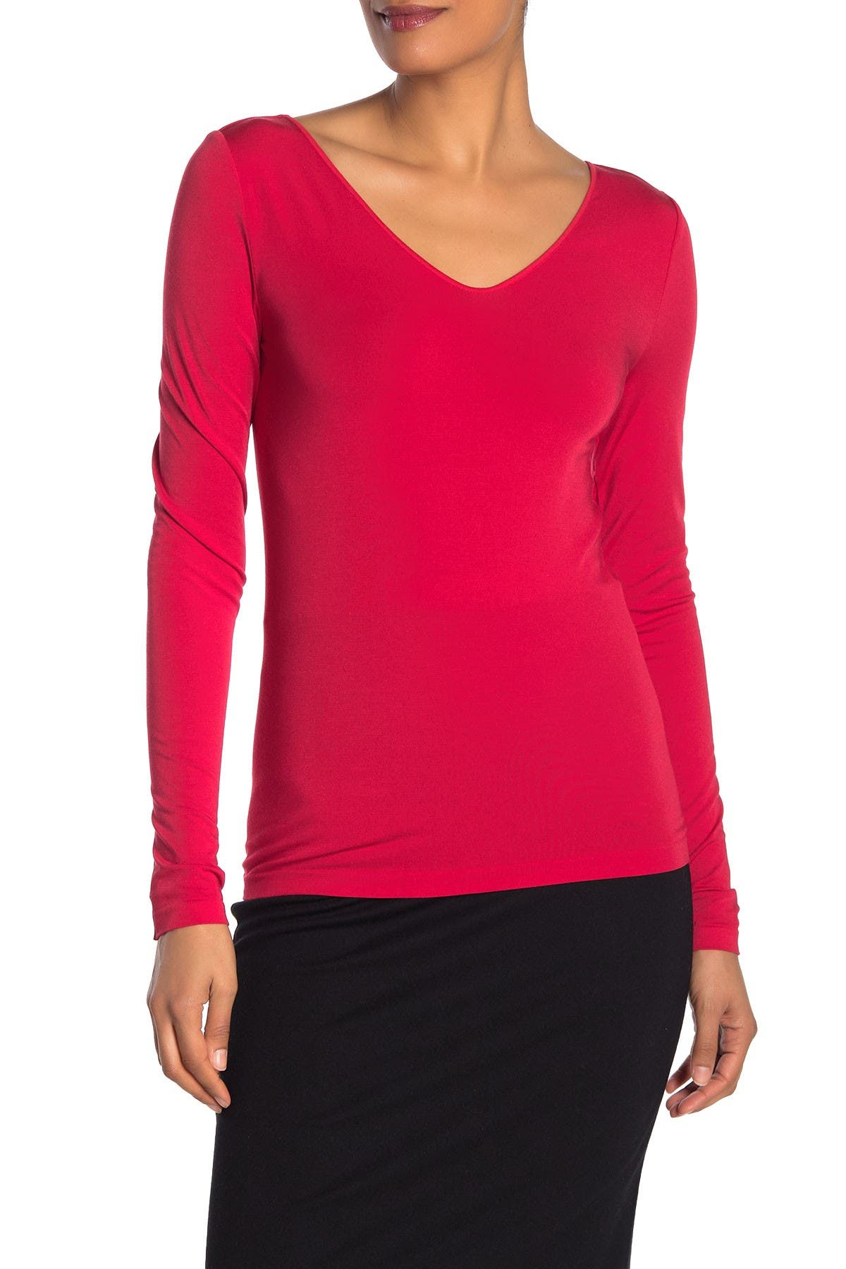 Image of WOLFORD V-Neck Long Sleeve Top