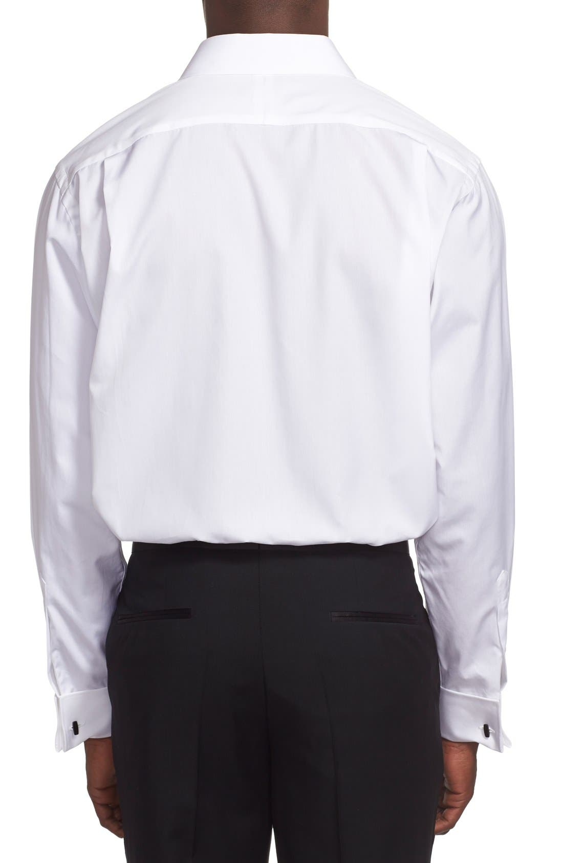 ,                             Classic Fit French Cuff Tuxedo Shirt,                             Alternate thumbnail 4, color,                             100