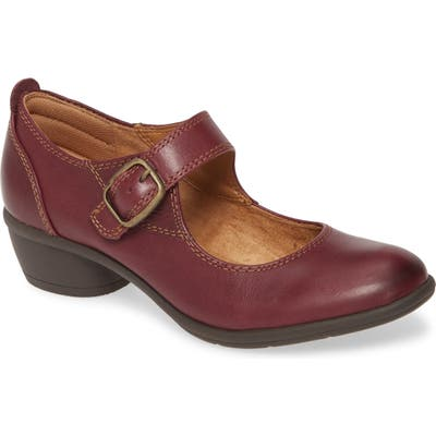 Comfortiva Quanita Mary Jane Pump- Burgundy