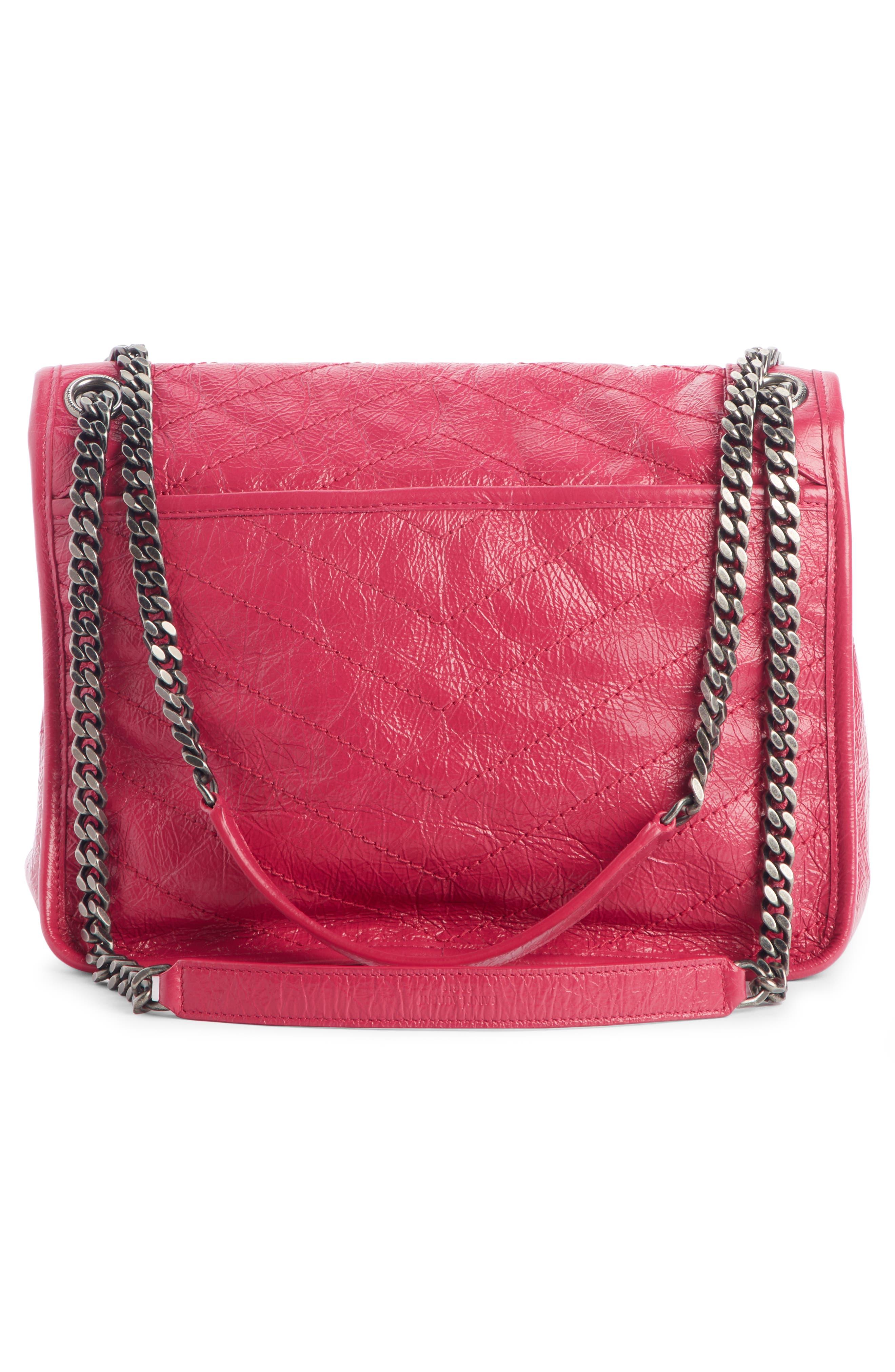 ,                             Medium Niki Leather Shoulder Bag,                             Alternate thumbnail 3, color,                             FREESIA/ FREESIA