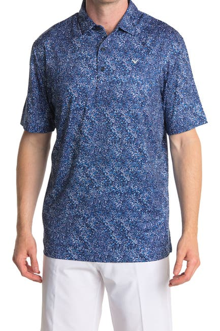Image of CALLAWAY GOLF Road Map Texture Performance Polo