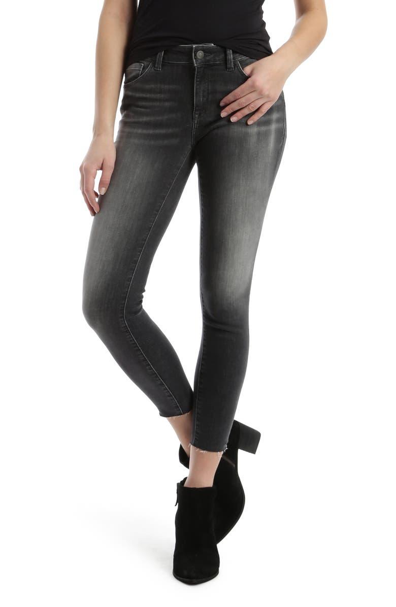 MAVI JEANS Adriana Super Skinny Ankle Jeans, Main, color, GREY EVERYDAY TRIBECA