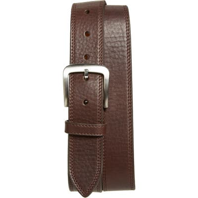 Shinola Double Stitch Leather Belt