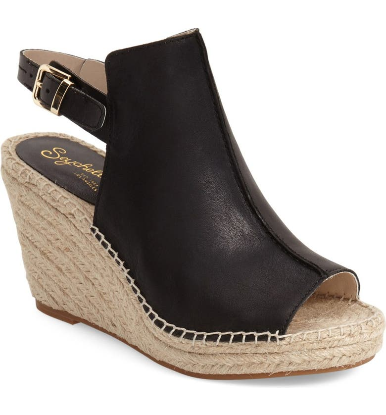 SEYCHELLES 'Charismatic' Espadrille Wedge, Main, color, 001