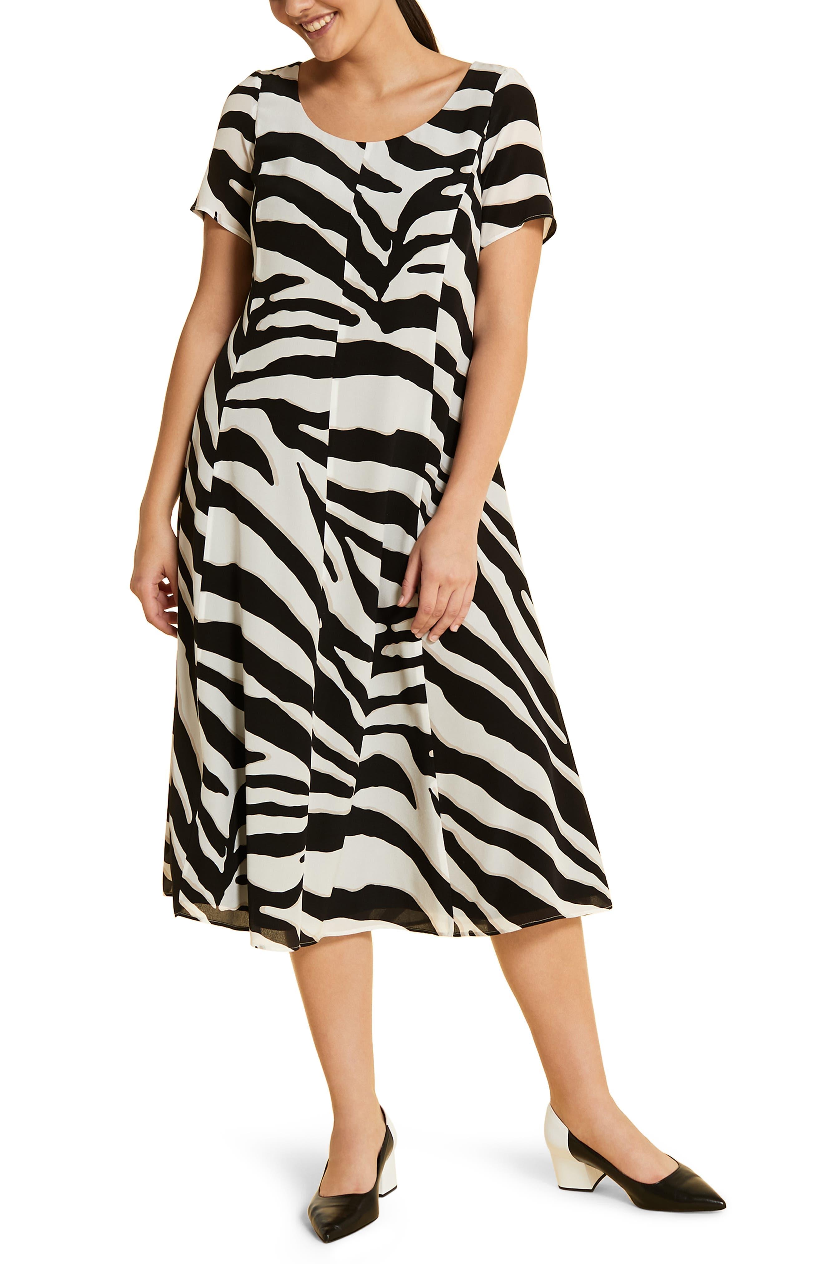 Plus Size Marina Rinaldi Docenza Silk Dress, Black